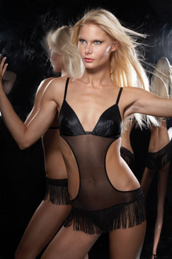 Carol Malony Lingerie - Fringe Teddy CM1877